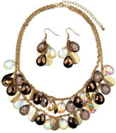 JCPenney MIXIT Mixit Multicolor Bead and Glittery Disc Earring and Necklace Set