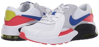 Nike Kids Air Max Excee (Little Kid) (White/Hyper Blue/Bright Cactus/Track Red) Kid's Shoes