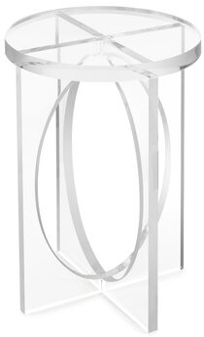 John-Richard Collection Glass Top Pedestal End Table