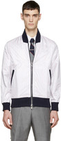 Thom Browne Tricolor Nylon Layered Bomber Jacket