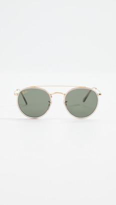Ray-Ban Round Double Bridge Aviator Sunglasses