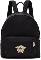 Versace Black and Gold Medium Palazzo Backpack