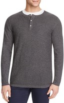 Vince Cotton Cashmere Mix Stitch Henley Sweater