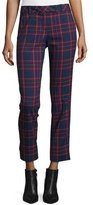 Trina Turk Cropped Plaid Trousers, Multicolor