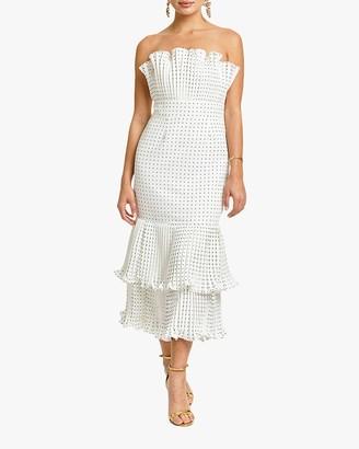 Mestiza Pericon Peplum Midi Dress