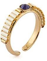 "Satellite Women's ""Tananarive"" Gold Plated Brass Blue Stone Tiny Ring Size - K"