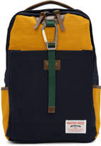 Master-piece Co Navy and Orange Link Backpack
