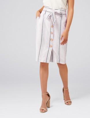 Ever New Abbey Linen Blend Pencil Skirt
