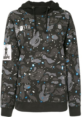 A Bathing Ape Hooded Camouflage-Print Sweatshirt