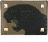 Valentino Garavani Valentino Rockstud panther cardholder - men - Calf Leather - One Size