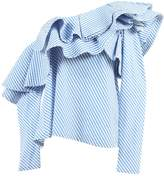 Johanna Ortiz Blue Cotton Top for Women