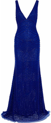 Naeem Khan Bead-embellished Tulle Gown