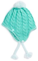 The North Face Girl's Fuzzy Earflap Beanie - Green