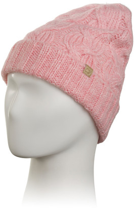 Cable And Ribbed Knit Cuff Beanie