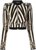Balmain patterned baroque cropped jacket