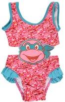 "Teenage Mutant Ninja Turtles TMNT Little Girls Toddler ""Turtle Love"" 1-Piece Swimsuit"