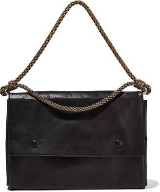 Ann Demeulemeester Braid-trimmed Leather Shoulder Bag