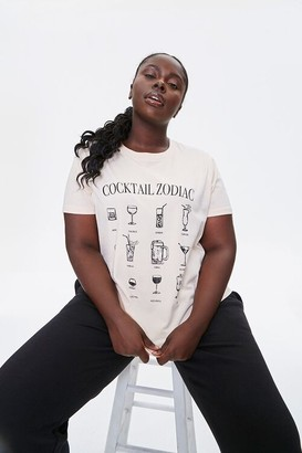 Forever 21 Plus Size Cocktail Zodiac Tee