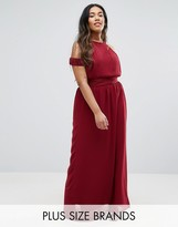 Club L Plus Maxi Dress With Cut Out Shoulder