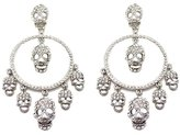 Butler & Wilson Butler and Wilson Multi Skull and Hoop Crystal Earrings