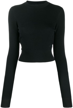 Victoria Victoria Beckham cropped long sleeve jumper