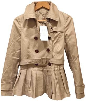 Trussardi Beige Cotton Trench Coat for Women