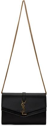 Saint Laurent Black Sulpice Chain Wallet Bag