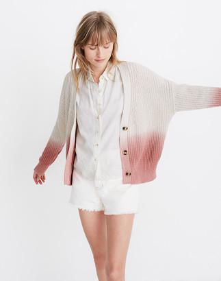 Madewell Dip-Dye Courtland Cardigan Sweater