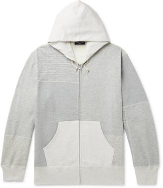 Comme des Garçons Homme Patchwork Melange Loopback Cotton-Jersey Zip-Up Hoodie