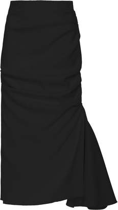 Acler Riverside Ruffle-Inset Midi Pencil Skirt