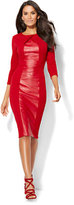 New York & Co. Faux-Leather Panel Sheath Dress - Tall