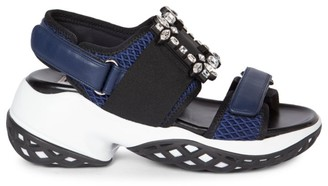Roger Vivier Viv Run Strass Buckle Sport Sandals