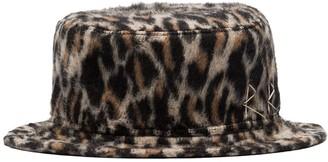Ruslan Baginskiy Leopard Pattern Bucket Hat