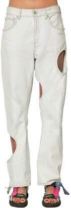 Off-White Cutout Cotton Denim Jeans
