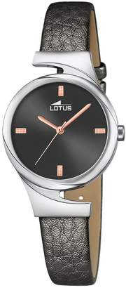 Lotus Women's Quartz Watch with Grey Dial Analogue Display and Grey Leather Strap 18342/2