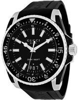 Gucci Dive XL YA136204 Men's Round Black Rubber Watch