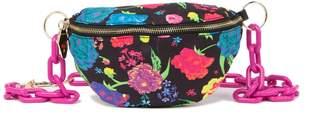 Betsey Johnson Floral Chain Belt Bag