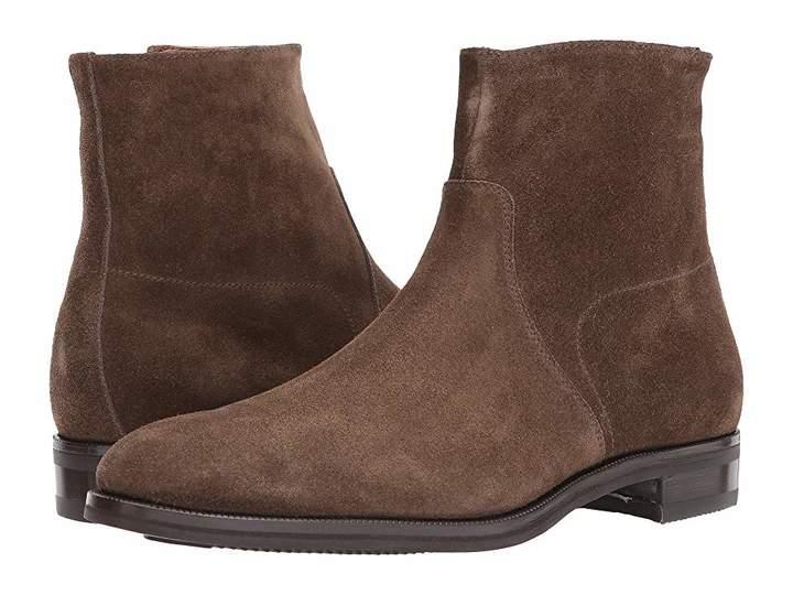Gravati Size Zip Plain Toe Suede Boot Men's Boots
