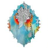 DENY Designs Iveta Abolina Coral Baroque Clock