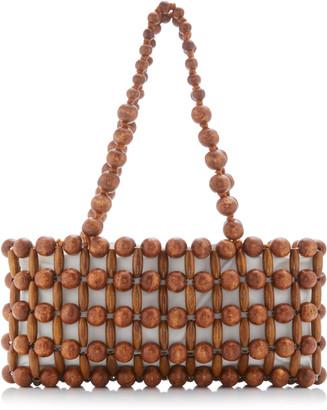 Cult Gaia Cora Beaded Bamboo Shoulder Bag