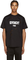 Givenchy Black Destroyed T-Shirt