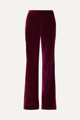 Alice + Olivia Alice Olivia - Lorinda Velvet Wide-leg Pants - Purple