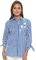 Croft & Barrow Women's Embroidered Print Shirt