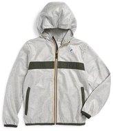 K-Way 'Claude 3.0' Hooded Waterproof Windbreaker Jacket (Toddler Boys, Little Boys & Big Boys)