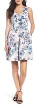 Taylor 8821M Sleeveless Floral Twill Dress