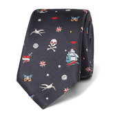 Valentino - Tattoo Silk-jacquard Tie