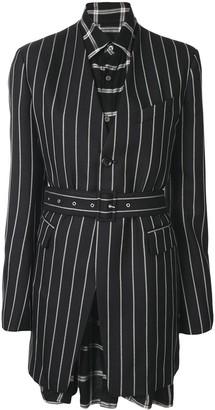 Maison Mihara Yasuhiro Striped Print Layered Jacket