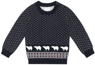Rachel Riley Polar Bear cotton-blend sweater