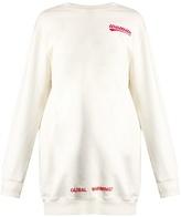Off-White Oversized rose-print cotton sweatshirt