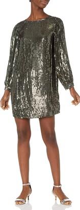 Velvet by Graham & Spencer Women's Tristie Sequins Longsleeve Dress